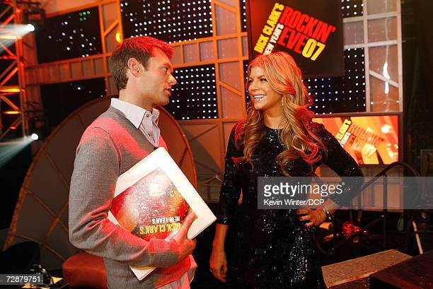 Getting ready for the big oneRyan Seacrest and Fergie chat at rehearsals for 'Dick Clark's New Year's Rockin' Eve 2007' which airs December 31 on...