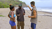 'Getting to Crunch Time' Natalie Anderson Jeremy Collins and Jon Misch during the ninth episode of Survivor 29 Wednesday Nov 19 on the CBS Television...