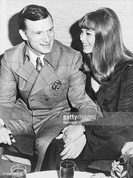 Getting to Know You Rome Italy Playboy publisher Hugh Hefner and owner of the scores of Playboy clubs poses with his friend Barbara Benton 19 year...