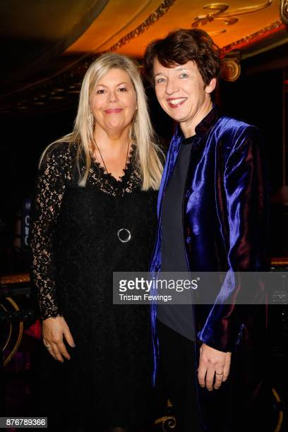 Getty CEO Dawn Airey and partner Jacqueline Lawrence attend the annual National Youth Theatre national fundraiser at Cafe de Paris on November 20...