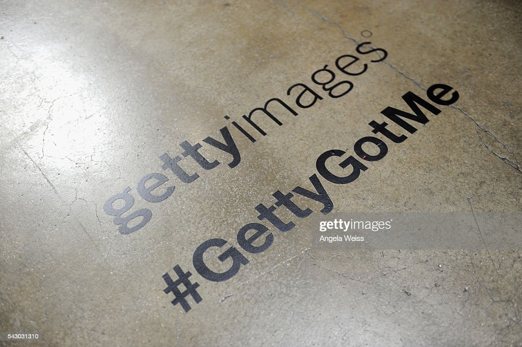 Getty Images branding is displayed at FAN FEST during the 2016 BET Experience on June 25, 2016 in Los Angeles, California.