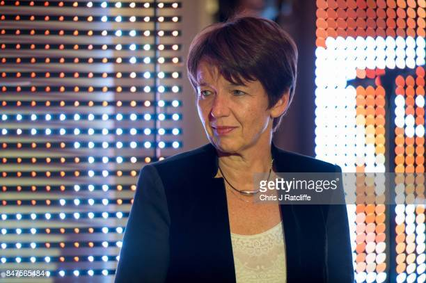 Getty Images CEO Dawn Airey announces Dianne Abbott as winner of icon of the year at the Diversity in Media Awards on September 15 2017 in London...