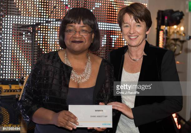Getty Images CEO Dawn Airey awards the Icon of the year award to Labour MP Dianne Abbott at the Diversity in Media Awards on September 15 2017 in...