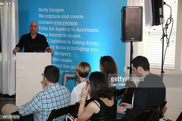 Getty Images photographer Al Bello speaks about his defining career moments as a sports photographer at Getty House during South By Southwest on...