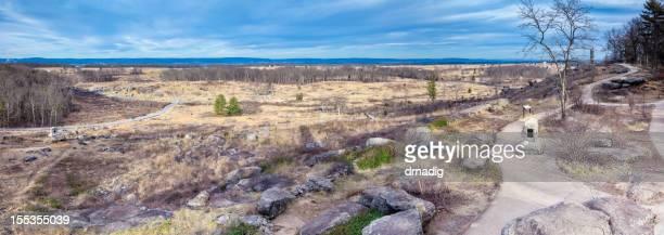 Gettysburg Battlefield - Little Round Top Sweeping Panorama