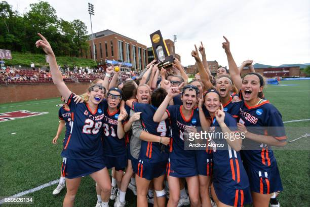 Gettysburg College celebrates after winning their second Division III Women's Lacrosse Championship held at Kerr Stadium on May 28 2017 in Salem...
