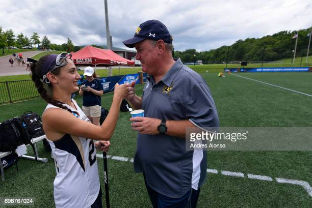 Gettysburg College takes on the College of New Jersey during the Division III Women's Lacrosse Championship held at Kerr Stadium on May 28 2017 in...