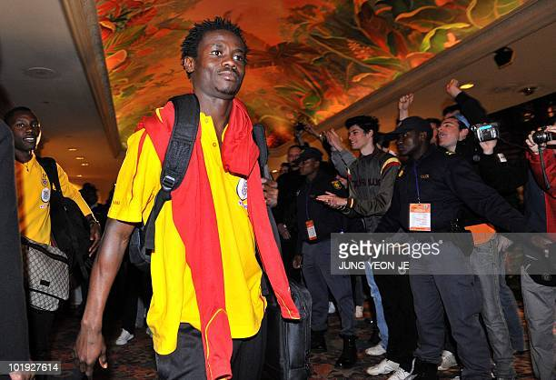 Ghana national football team arrives at a hotel in Sun City on June 9 2010 ahead of the start of the 2010 World Cup football tournament The Ghana...