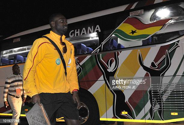 Ghana national football team members arrive at a hotel in Sun City on June 9 2010 ahead of the start of the 2010 World Cup football tournament in...