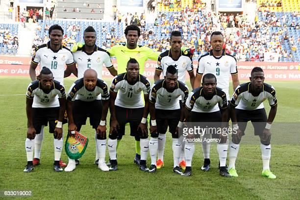 Ghana national team pose for a photo before the Africa Cup of Nations quarter final soccer match between DR Congo and Ghana at the Stade d'Oyem on...