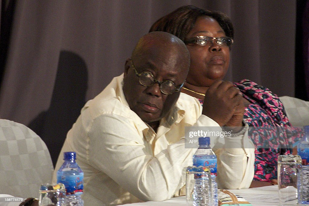 Ghana opposition presidential candidate Nana Akufo-Addo gives a press conference on December 28 in Accra. Ghana's main opposition, alleging electoral fraud, filed a court challenge today to results from this month's presidential polls handing victory to incumbent John Dramani Mahama. Opposition candidate Nana Akufo-Addo of the New Patriotic Party told journalists after the party filed the challenge with the supreme court that the discrepancies they are alleging were too large to ignore. AFP PHOTO / CHRIS STEIN