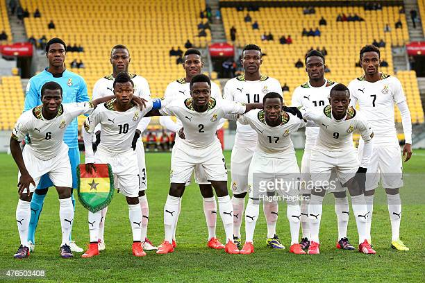 Ghana players pose for a team photo during the FIFA U20 World Cup New Zealand 2015 Round of 16 match between Ghana and Mali at Wellington Regional...
