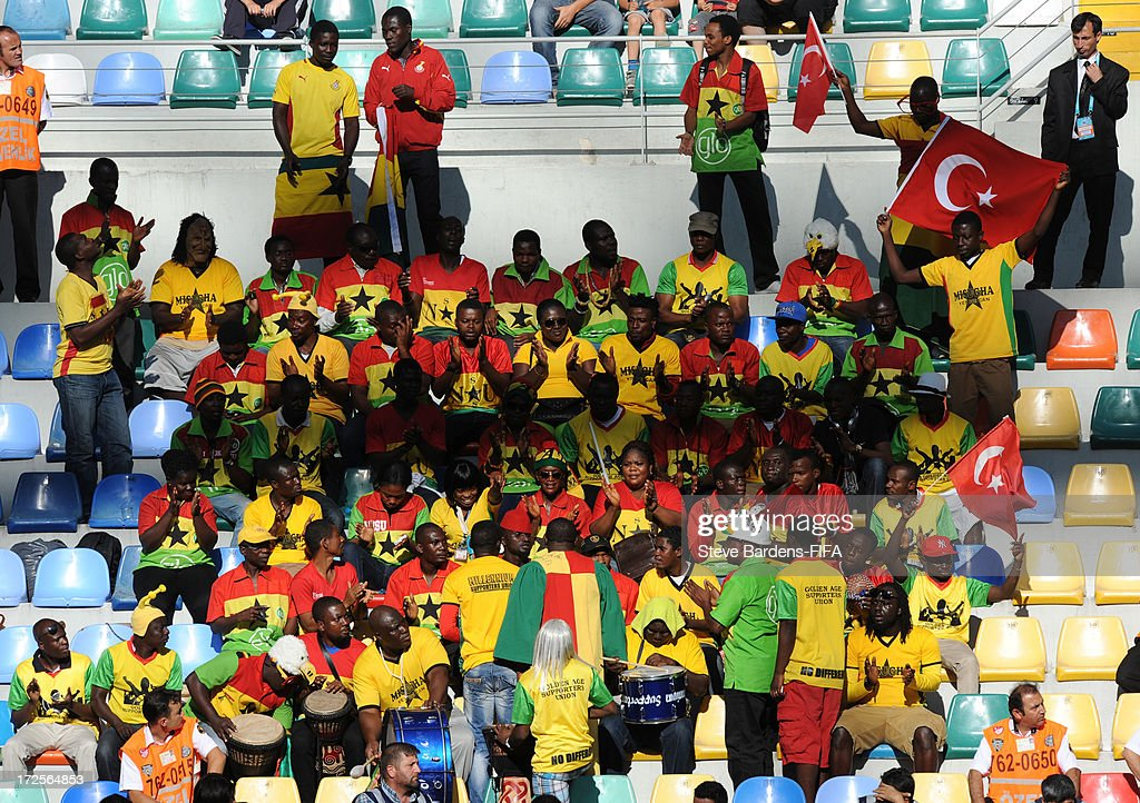 Ghana supporters enjoy the atmosphere before the FIFA U20 World Cup Round of 16 match between Portugal and Ghana at Kadir Has Stadium on July 3, 2013 in Kayseri, Turkey.
