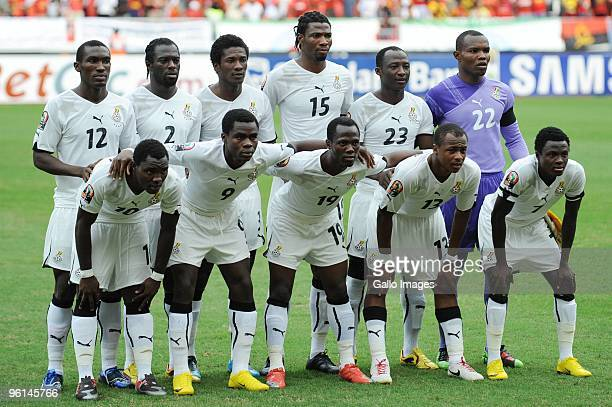Ghana team during the Africa Cup of Nations Quarter Final match between Angola and Ghana from the November 11 Stadium on January 24 2010 in Luanda...