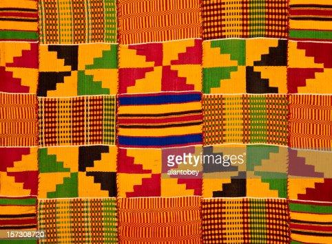 Ghana: Traditional Kente Cloth (border detail)