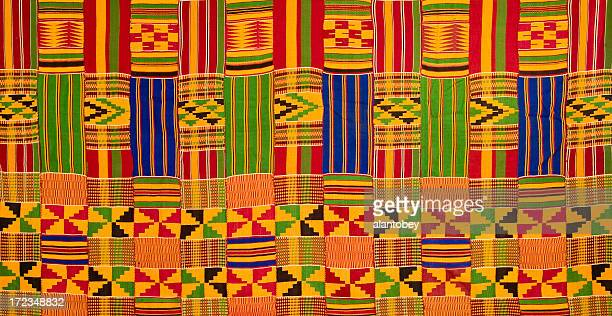 Ghana: Traditional Kente Cloth (detail of large-panel border)