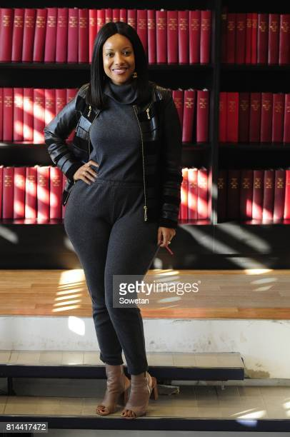 Ghanaian actress Joselyn Dumas poses for a portrait during an interview about the new film Potato Potahto on July 13 2017 in Johannesburg South...