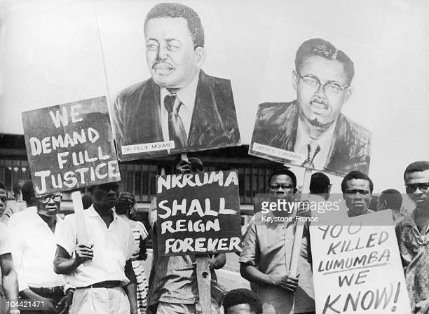 Ghanaian citizens demonstrated outside the US Embassy in Accra accusing the government of assassinating Patrice Lumumba and 23 February 1964