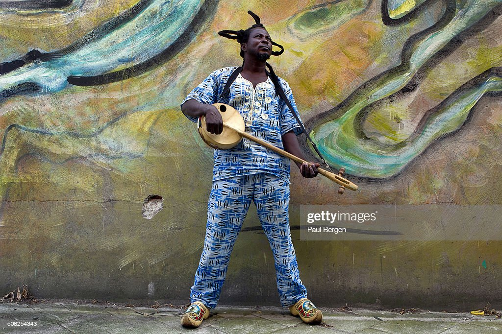 Ghanaian musician King Ayisoba portrait at Concertgebouw Amsterdam Netherlands 26th June 2014