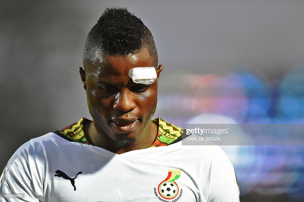 Ghana's midfielder Mubarak Wakaso leaves the pitch at the end of the 2015 African Cup of Nations group C football match between Ghana and Algeria in Mongomo on January 23, 2015. AFP PHOTO / CARL DE SOUZA