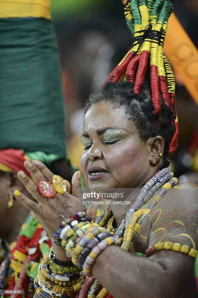 A Ghanean supporter prays prior to the 2013 African Cup of Nations semi-final football match Burkina Faso vs Ghana, on February 6, 2013 at Mbombela stadium in Nelspruit.
