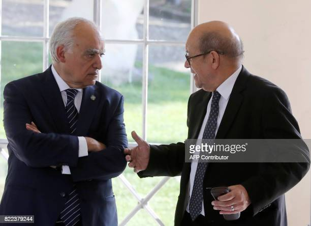 Ghassan Salame Special Representative to the Secretary General of the United Nations for Libya and French Foreign Affairs Minister JeanYves Le Drian...