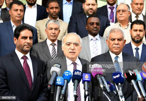 Ghassan Salame special representative to the Secretary General of the United Nations for Libya gives a press conference in the Tunisian capital Tunis...