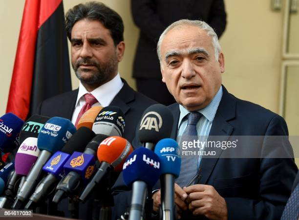 Ghassan Salame special representative to the Secretary General of the United Nations for Libya and Abdessalam Nasiya chairman of the Libyan...