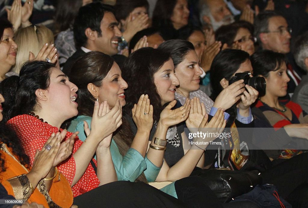 Ghazal Singers from Iran enjoying a performance during ongoing third International Sufi Festival at Kamani Auditorium on February 6, 2013 in New Delhi, India. Organized by the the Indian Council for Cultural Relations, three day festival will feature Musicians from Spain, Azerbaijan, Russia, Iran, Tunisia and India.