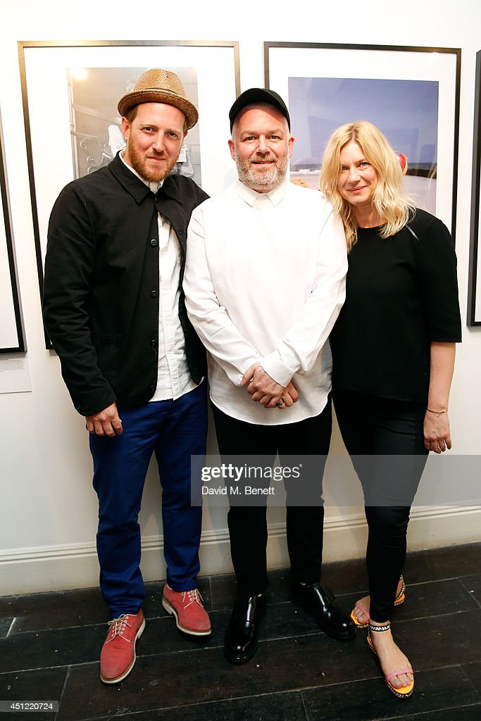 ghb Brand Ambassadors Zoe Irwin (R), Adam Reed (C) and Kenna attend ghd's exhibition of iconic beauty must-haves to celebrate the launch of ghd aura, a ground-breaking drying and styling tool on June 25, 2014 in London, England.