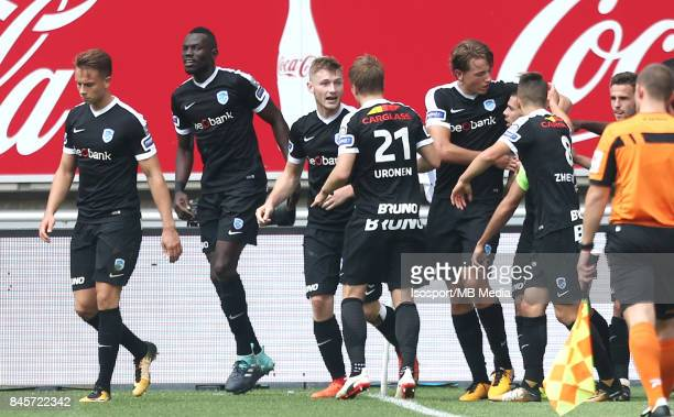 20170910 Ghent Belgium / Kaa Gent v Krc Genk / 'nJakub BRABEC Celebration'nFootball Jupiler Pro League 2017 2018 Matchday 6 / 'nPicture by Vincent...