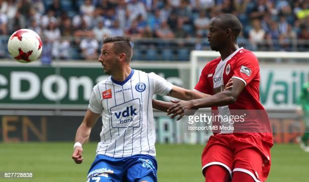 20170806 Ghent Belgium / Kaa Gent v Royal Antwerp Fc / Danijel MILICEVIC Isaac KONE / Football Jupiler Pro League 2017 2018 Matchday 2 / Picture by...