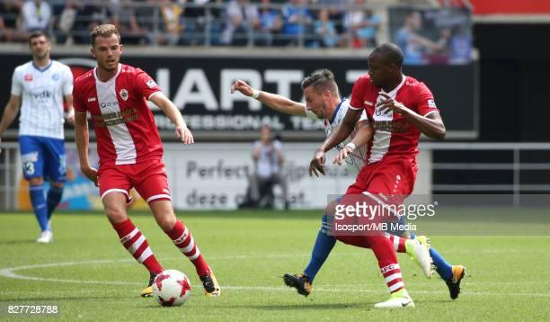 20170806 Ghent Belgium / Kaa Gent v Royal Antwerp Fc / Geoffry HAIREMANS Danijel MILICEVIC Isaac KONE / Football Jupiler Pro League 2017 2018...