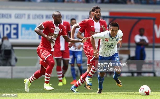 20170806 Ghent Belgium / Kaa Gent v Royal Antwerp Fc / Isaac KONE Yuya KUBO / Football Jupiler Pro League 2017 2018 Matchday 2 / Picture by Vincent...