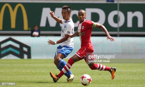 20170806 Ghent Belgium / Kaa Gent v Royal Antwerp Fc / Yuya KUBO Frederic DUPLUS / Football Jupiler Pro League 2017 2018 Matchday 2 / Picture by...