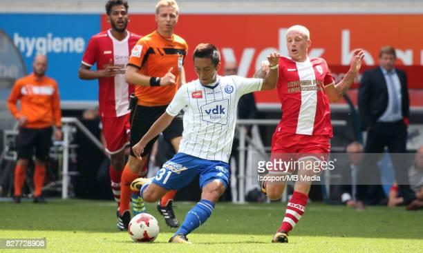 20170806 Ghent Belgium / Kaa Gent v Royal Antwerp Fc / Yuya KUBO Joeri DEQUEVY / Football Jupiler Pro League 2017 2018 Matchday 2 / Picture by...