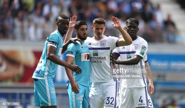 20170430 Ghent Belgium / Kaa Gent v Rsc Anderlecht / 'nKalifa COULIBALY Samuel GIGOT Leander DENDONCKER Kara MBODJI'nJupiler Pro League PlayOff 1...