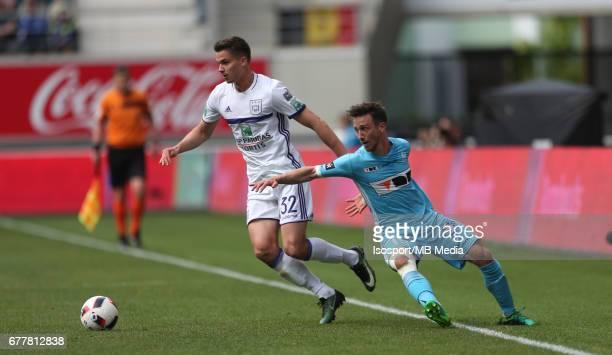 20170430 Ghent Belgium / Kaa Gent v Rsc Anderlecht / 'nLeander DENDONCKER Brecht DEJAEGERE'nJupiler Pro League PlayOff 1 Matchday 6 at the Ghelamco...