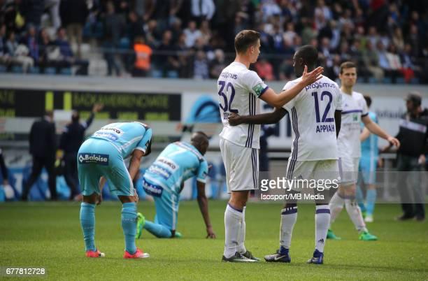 20170430 Ghent Belgium / Kaa Gent v Rsc Anderlecht / 'nLeander DENDONCKER Dennis APPIAH'nJupiler Pro League PlayOff 1 Matchday 6 at the Ghelamco...
