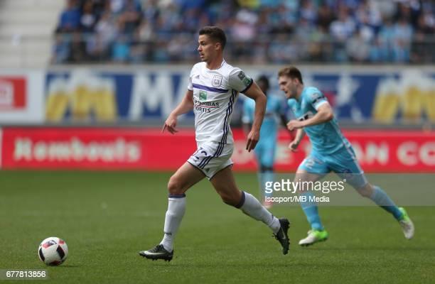 20170430 Ghent Belgium / Kaa Gent v Rsc Anderlecht / 'nLeander DENDONCKER'nJupiler Pro League PlayOff 1 Matchday 6 at the Ghelamco Arena stadium /...