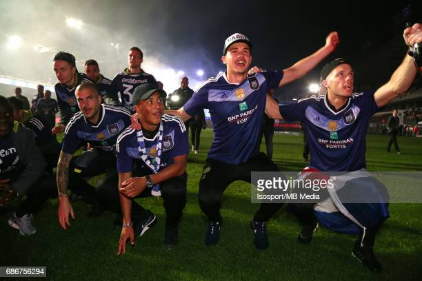 20170518 Ghent Belgium / Rsc Anderlecht Champion Party at the Constant Vanden Stock stadium/'nYouri TIELEMANS Leander DENDONCKER Bram...