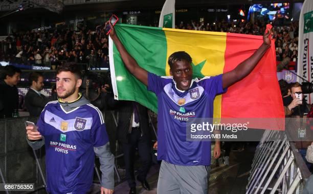 20170518 Ghent Belgium / Rsc Anderlecht Champion Party at the Constant Vanden Stock stadium/'nMassimo BRUNO Kara MBODJI'nPicture by Vincent Van...