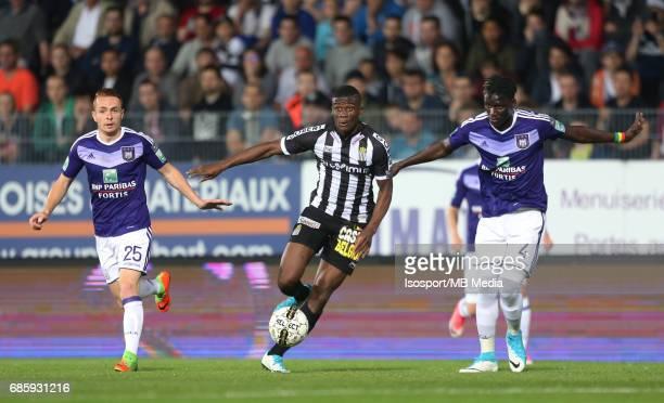20170518 Ghent Belgium / Sporting Charleroi v Rsc Anderlecht /'nAdrien TREBEL Chris BEDIA Kara MBODJI'nJupiler Pro League PlayOff 1 Matchday 9 at the...