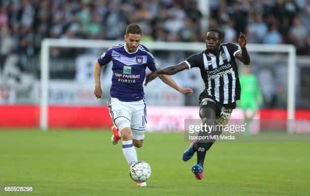 20170518 Ghent Belgium / Sporting Charleroi v Rsc Anderlecht /'nAlexandru CHIPCIU Cristophe DIANDY'nJupiler Pro League PlayOff 1 Matchday 9 at the...