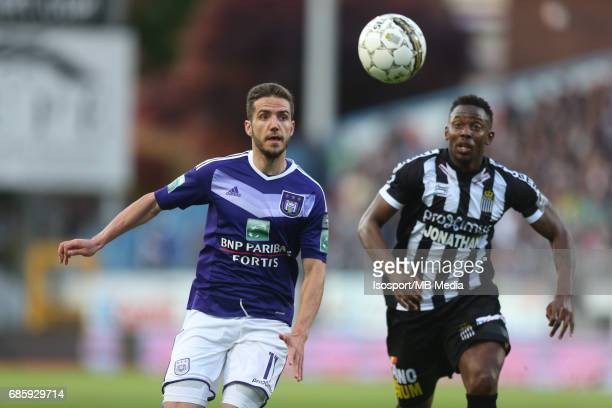 20170518 Ghent Belgium / Sporting Charleroi v Rsc Anderlecht /'nAlexandru CHIPCIU Francis N'GANGA'nJupiler Pro League PlayOff 1 Matchday 9 at the...