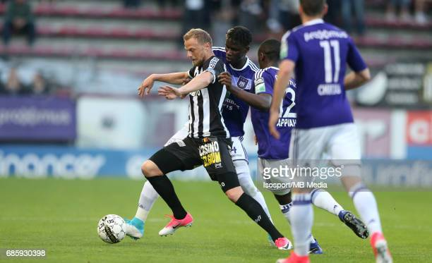 20170518 Ghent Belgium / Sporting Charleroi v Rsc Anderlecht /'nDavid POLLET Kara MBODJI'nJupiler Pro League PlayOff 1 Matchday 9 at the Stade du...