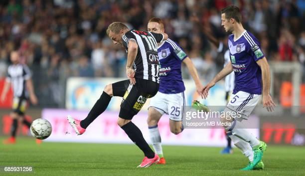 20170518 Ghent Belgium / Sporting Charleroi v Rsc Anderlecht /'nDavid POLLET Alexandru CHIPCIU'nJupiler Pro League PlayOff 1 Matchday 9 at the Stade...