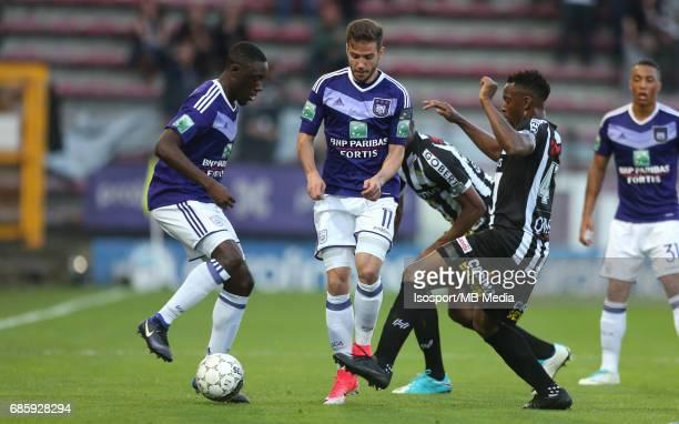 20170518 Ghent Belgium / Sporting Charleroi v Rsc Anderlecht /'nDennis APPIAH Alexandru CHIPCIU Francis N'GANGA'nJupiler Pro League PlayOff 1...