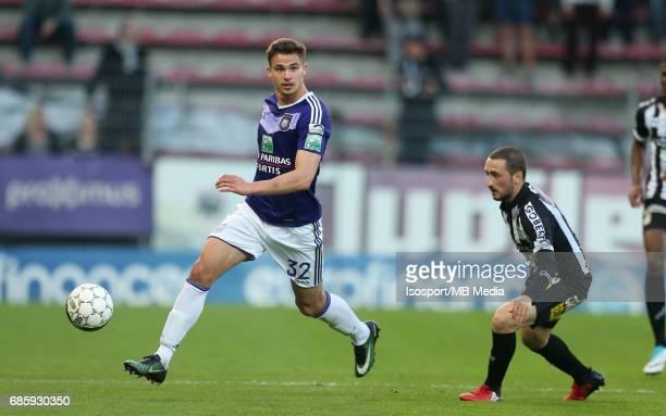 20170518 Ghent Belgium / Sporting Charleroi v Rsc Anderlecht /'nLeander DENDONCKER Enes SAGLIK'nJupiler Pro League PlayOff 1 Matchday 9 at the Stade...