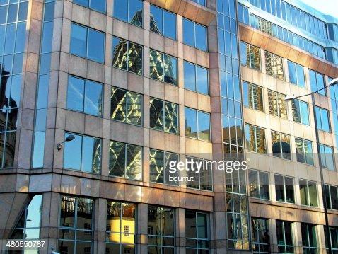 Gherkin reflejo/London : Foto de stock